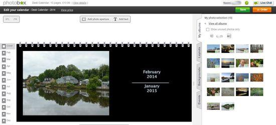 Photo Desk Calendar 2014